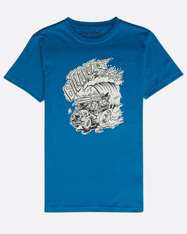 0 Boys' Surf Attack T-Shirt Blau N2SS18BIP9 Billabong