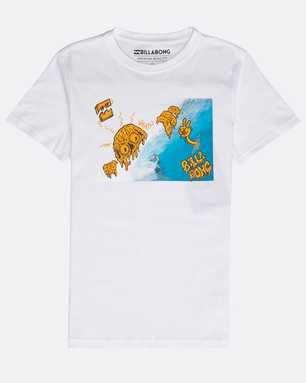 0 Boys' Melted Tube T-Shirt Weiss N2SS19BIP9 Billabong