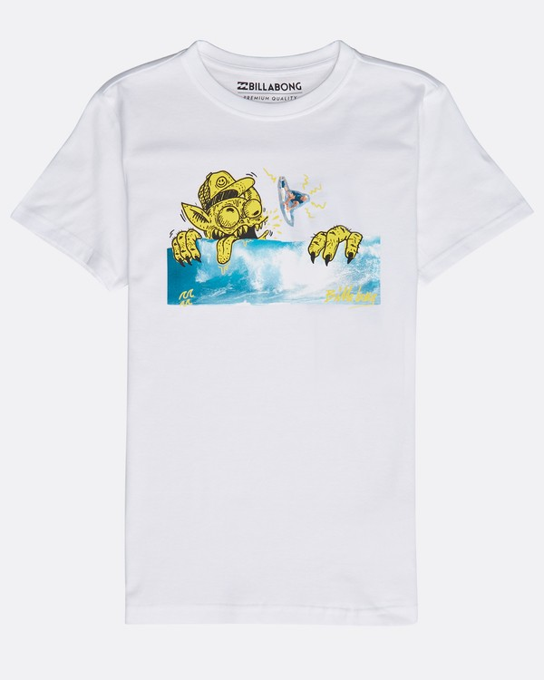 0 Boys' Psyko Air T-Shirt Blanc N2SS20BIP9 Billabong