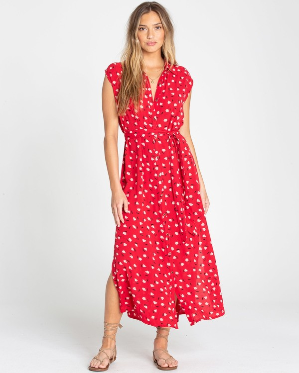 0 Little Flirt Dress Red N3DR06BIP9 Billabong