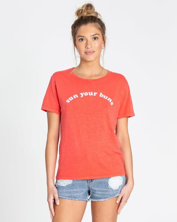 0 Sun Your Buns T-Shirts Rouge N3SS22BIP9 Billabong