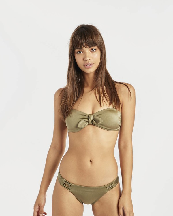 0 Sol Searcher Tied Bandeau Bikini Top Green N3ST01BIP9 Billabong