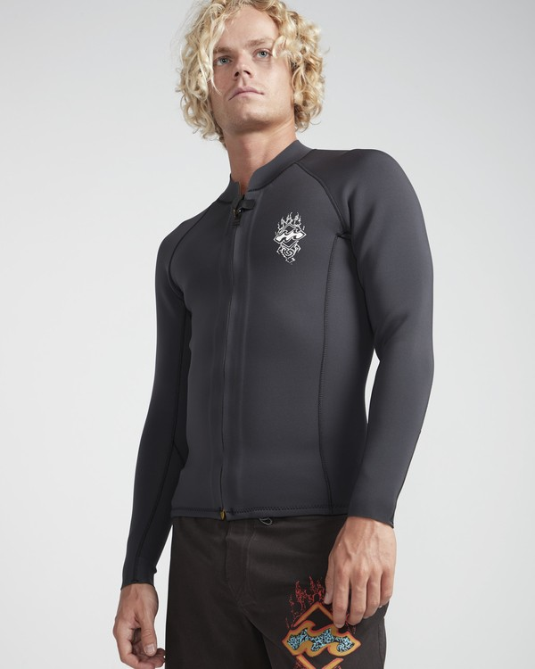 0 2/2 Revolution Front Zip Jacket Noir N42M14BIP9 Billabong