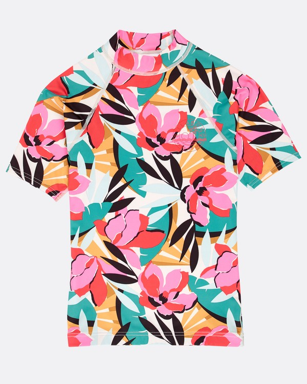 0 Girls' Flower Rashguard  N4KY03BIP9 Billabong