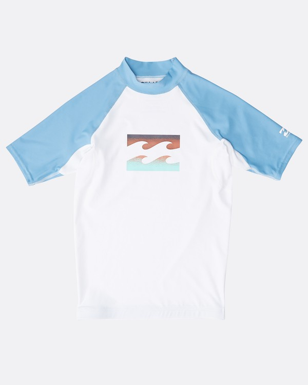 0 Boys' Team Wave Rashguard Blanco N4KY08BIP9 Billabong