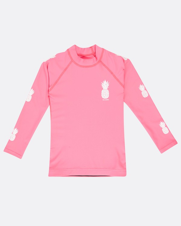 0 Logo Long Sleeve Rashguard Pink N4TY03BIP9 Billabong