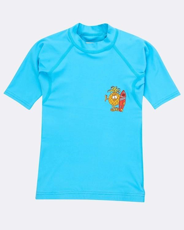 0 Boys Short Sleeve Rashguard Azul N4TY05BIP9 Billabong