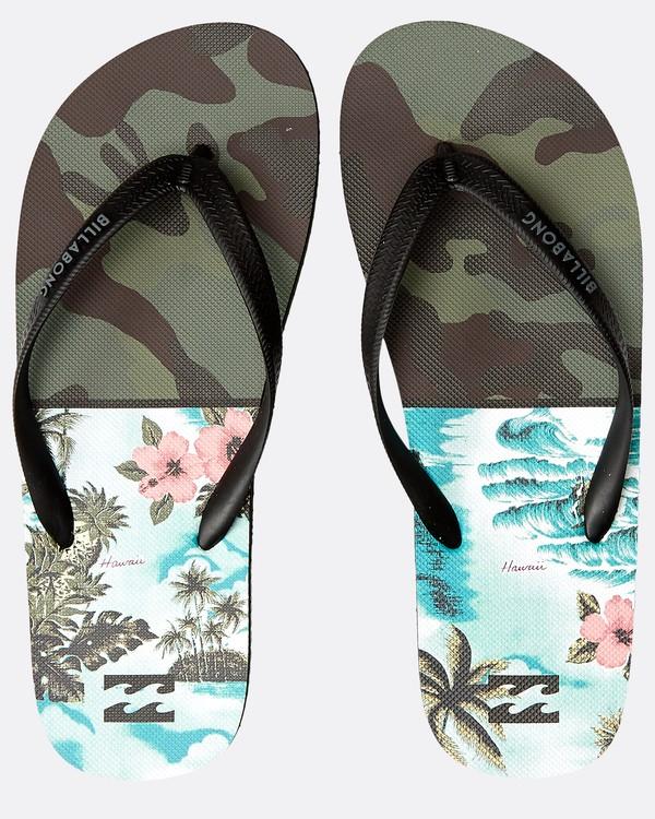 0 Tides Fifty50 Sandals Vert N5FF02BIP9 Billabong