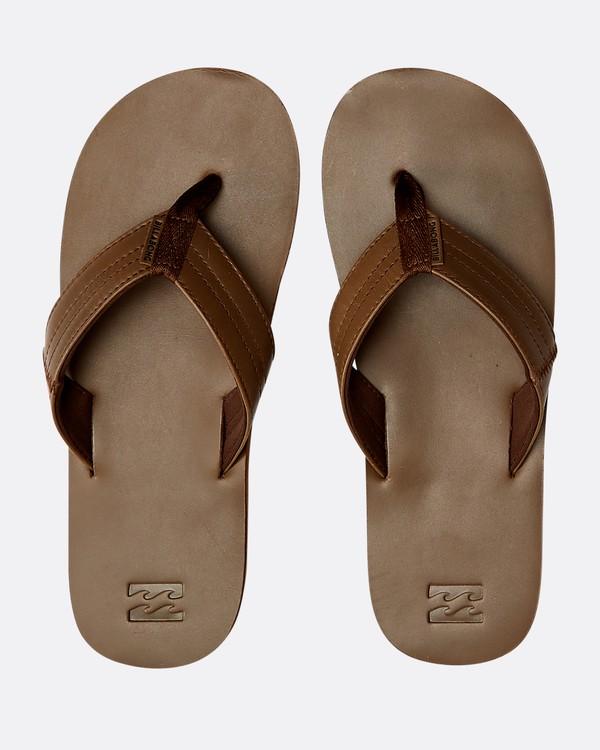 0 Seaway Leather Sandals Braun N5FF13BIP9 Billabong