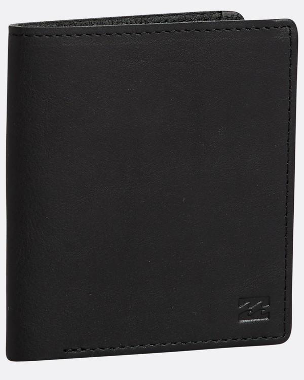 0 Gaviotas - Leder-Brieftasche für Männer Schwarz N5LW01BIP9 Billabong