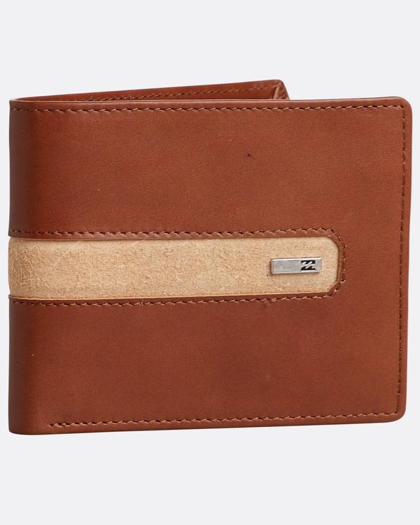 0 Dbah Leather - Cartera de cuero para Hombre Beige N5LW03BIP9 Billabong