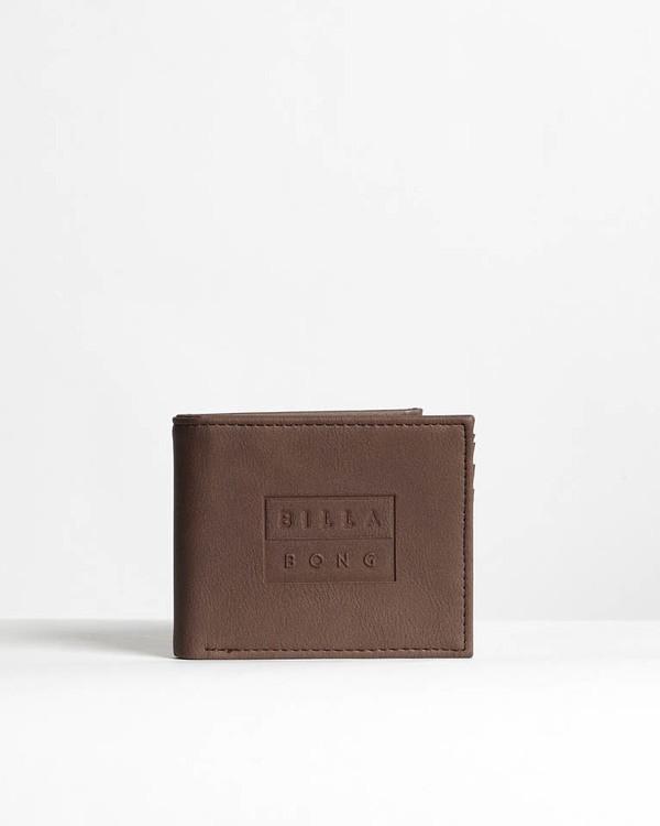 0 Die Cut - Leder-Brieftasche für Männer Braun N5WM11BIP9 Billabong