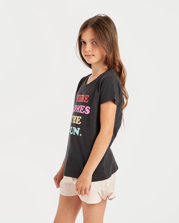 0 Girls' Billie T-Shirt Schwarz N8SS01BIP9 Billabong