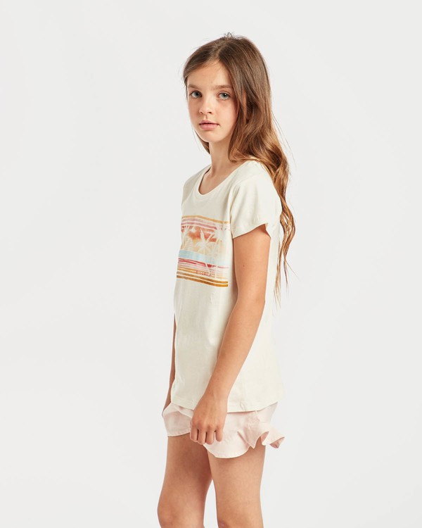 0 Girls' Billie T-Shirt Beige N8SS01BIP9 Billabong