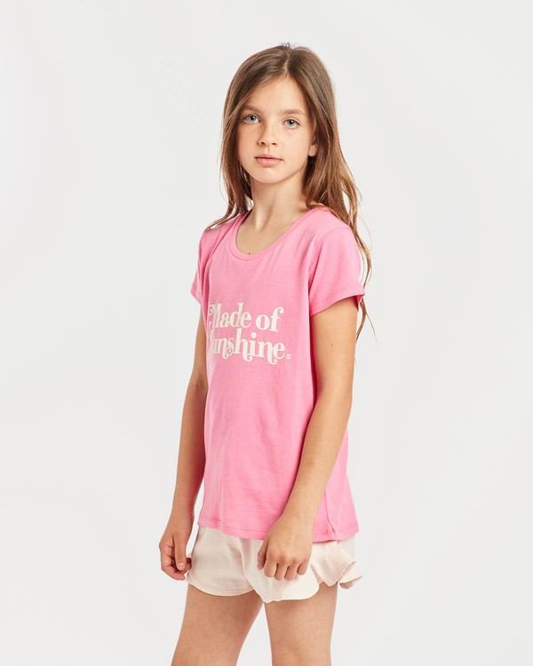 0 Girls' Billie T-Shirt Pink N8SS01BIP9 Billabong