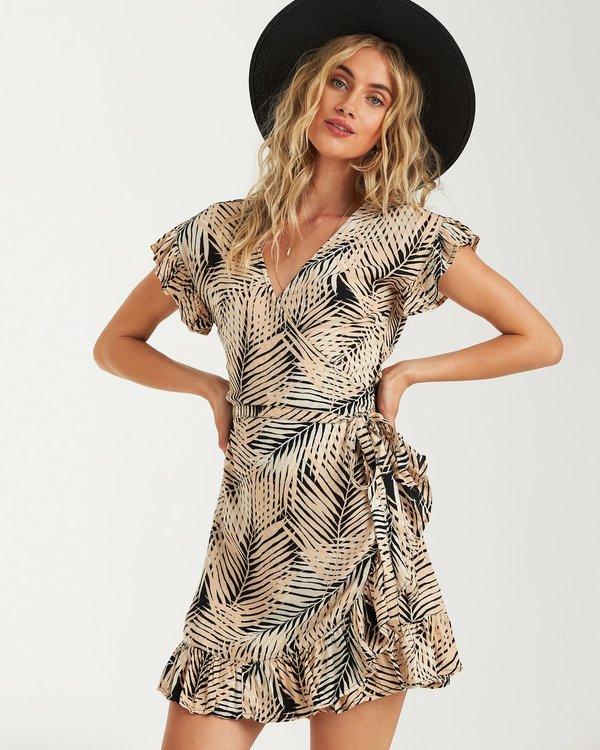 0 Wrap N Roll Wrap Dress Schwarz P3DR08BIS9 Billabong