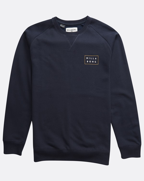 0 Die Cut Theme - Crew Pullover für Männer Blau Q1CR03BIF9 Billabong
