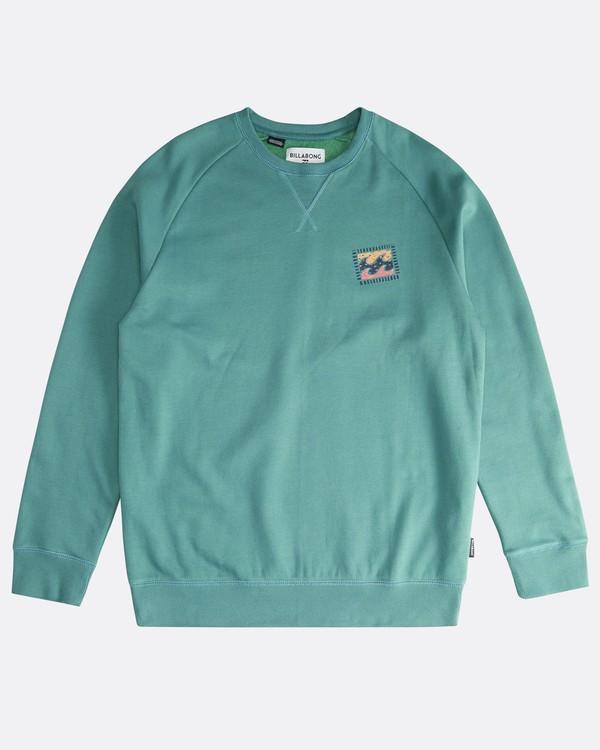0 Iconic - Crew Pullover für Männer Grün Q1CR06BIF9 Billabong