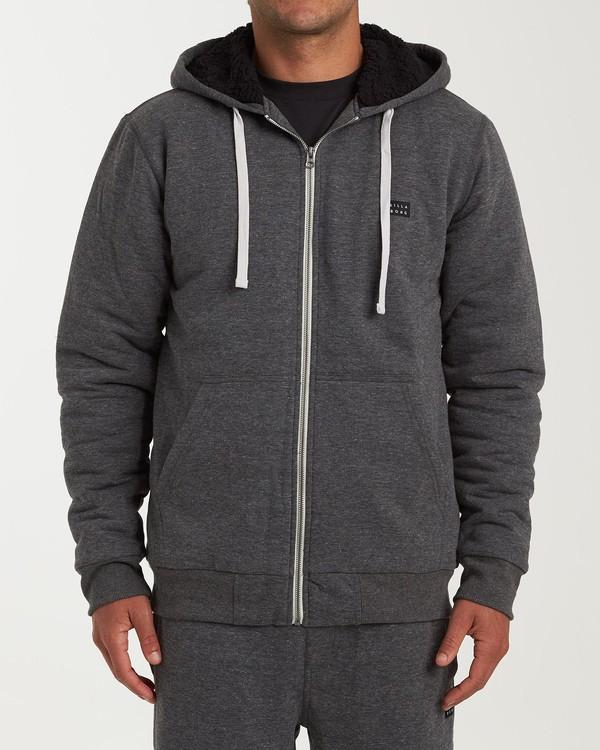 0 All Day - Sherpa Pullover Jacke für Männer Schwarz Q1FL15BIF9 Billabong