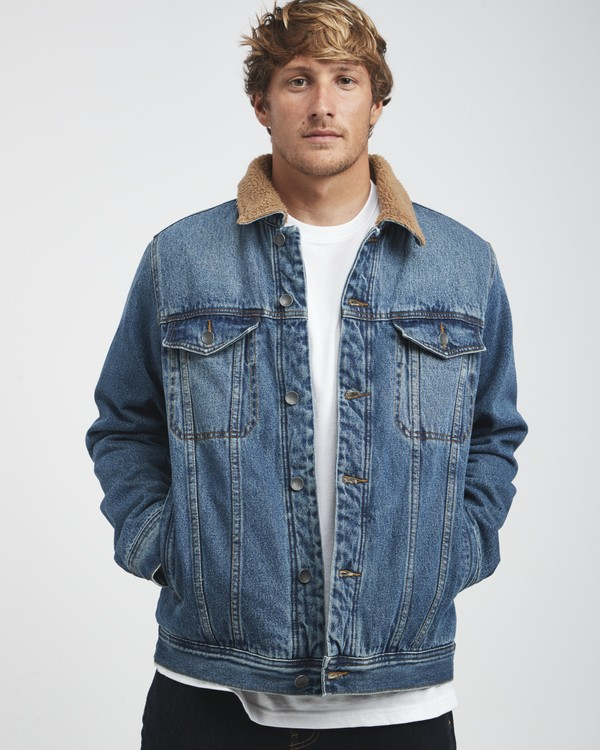 0 Barlow - Trucker Jacket for Men Blue Q1JK30BIF9 Billabong
