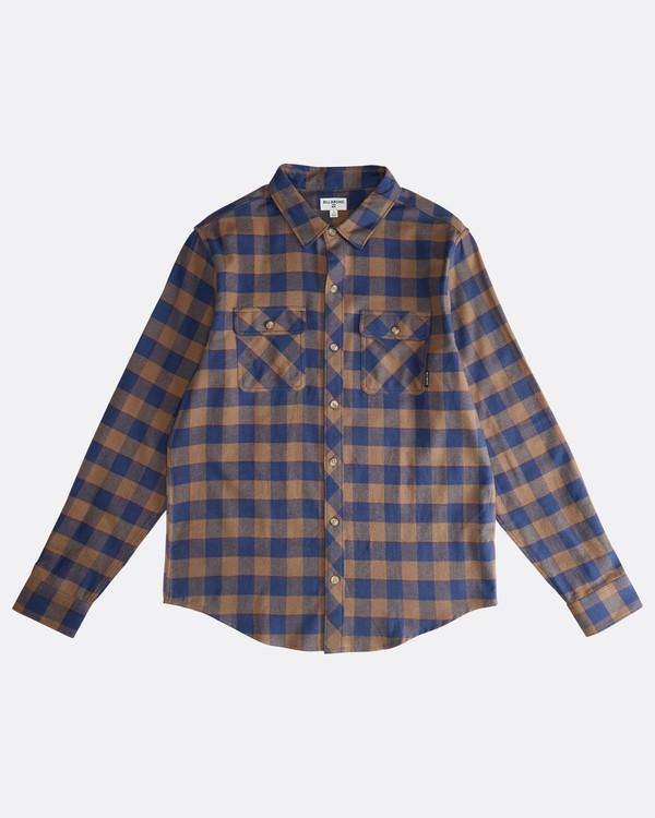 0 All Day - Langärmeliges Flanell-Hemd für Männer Braun Q1SH03BIF9 Billabong