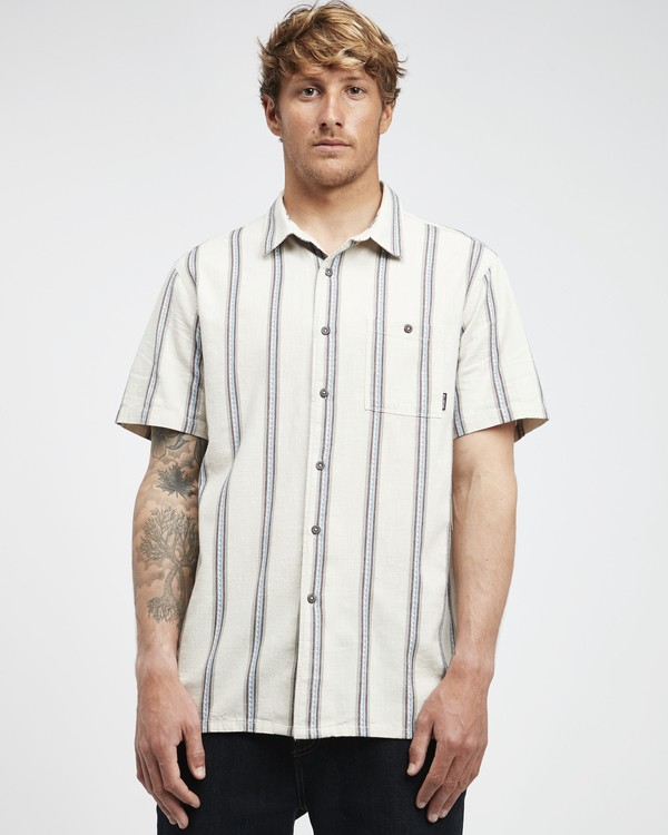 0 Sundays - Jaquard Kurzärmeliges Hemd für Männer Weiss Q1SH15BIF9 Billabong