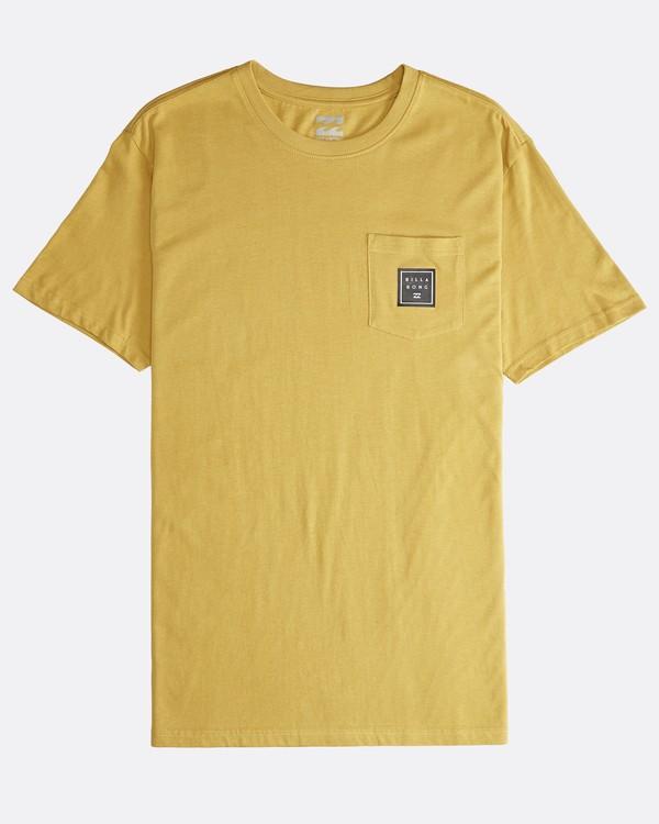 0 Stacked - T-Shirt für Männer Gelb Q1SS05BIF9 Billabong