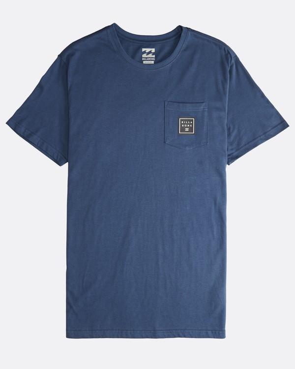 0 Stacked - T-Shirt für Männer Blau Q1SS05BIF9 Billabong