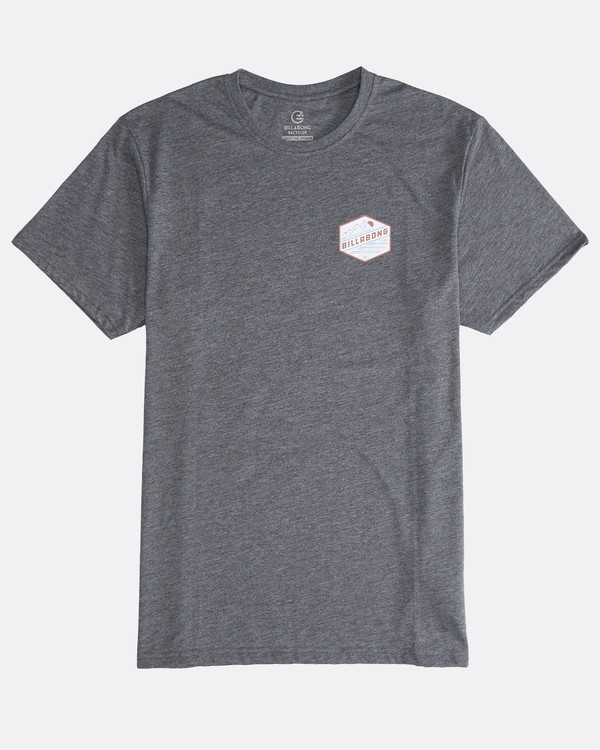 0 Ridge - Camiseta de Manga Corta para Hombre Gris Q1SS18BIF9 Billabong