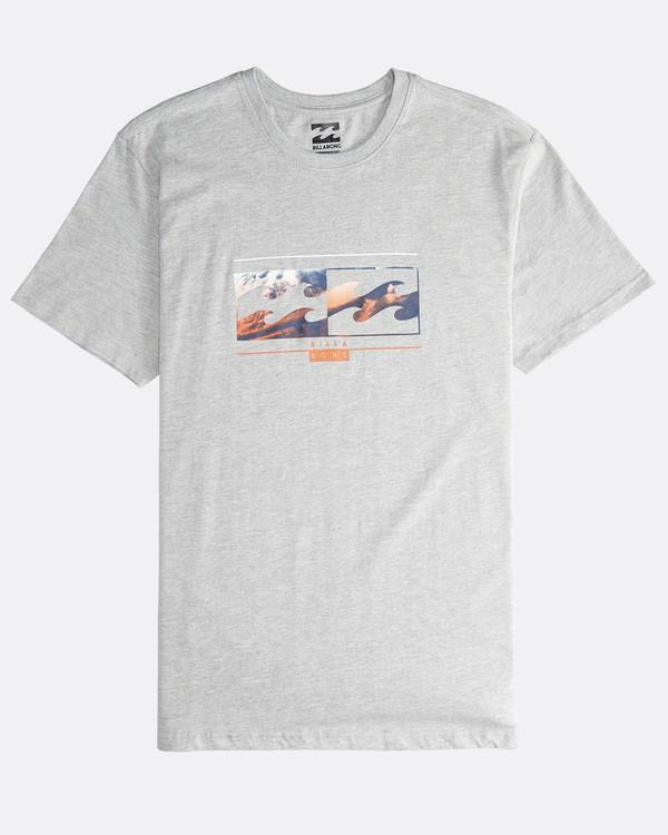 0 Inversed - T-Shirt für Männer Grau Q1SS22BIF9 Billabong