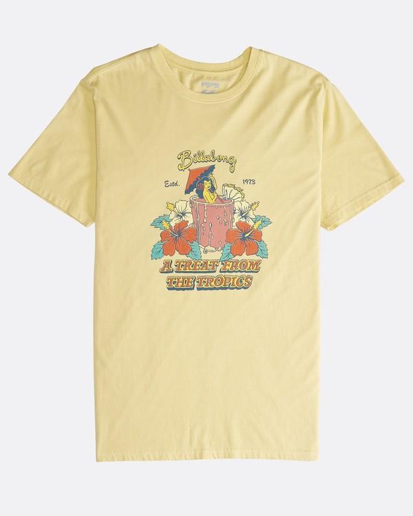 0 Maitai - Camiseta de Manga Corta para Hombre Amarillo Q1SS28BIF9 Billabong