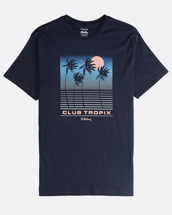 0 Tropix - Camiseta de Manga Corta para Hombre Azul Q1SS45BIF9 Billabong
