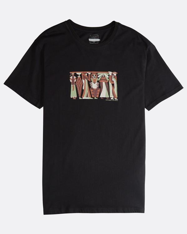 0 Line Up - Camiseta de Manga Corta para Hombre Negro Q1SS53BIF9 Billabong