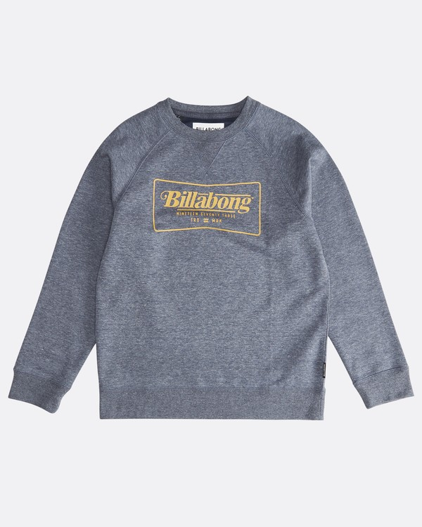 0 Trade Mark - Trademark Crew Fleece für Jungen Blau Q2CR01BIF9 Billabong