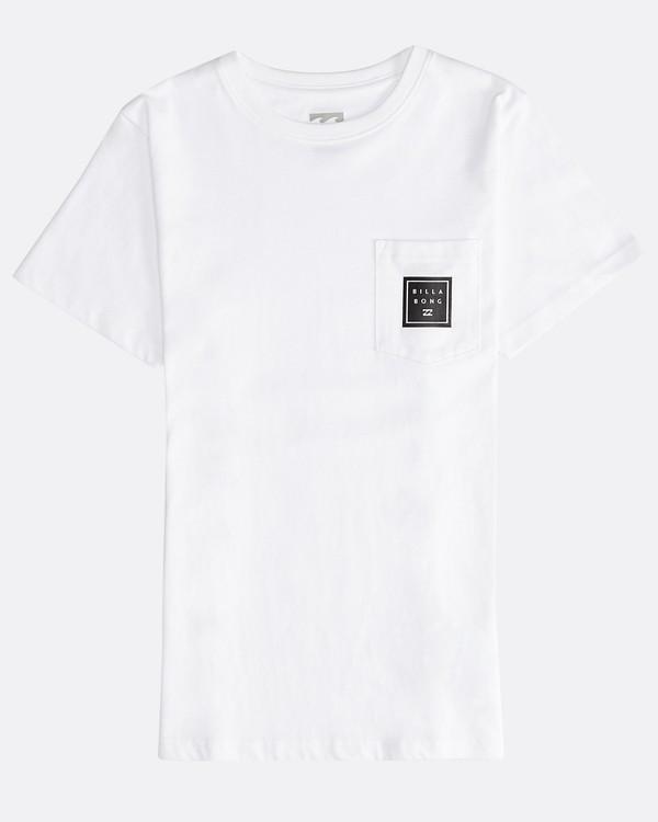 0 Stacked - T-Shirt für Jungen Weiss Q2SS01BIF9 Billabong