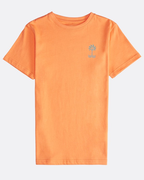 0 Palm Spin - T-Shirt für Jungen Orange Q2SS09BIF9 Billabong