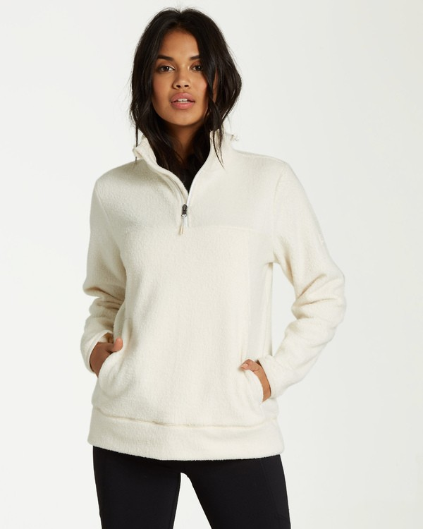0 Boundary Mock - Fleece Jumper for Women White Q3FL04BIF9 Billabong