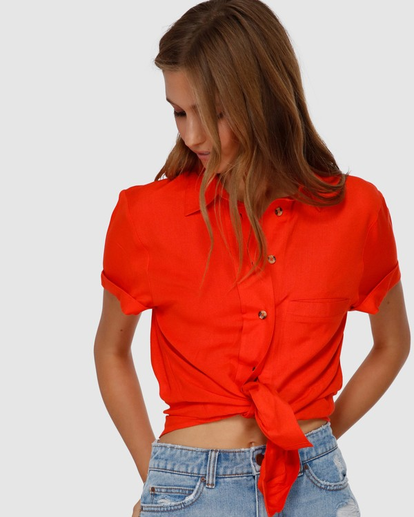 0 SWEET LIFE SHIRT Orange Q3TP42BIMU Billabong