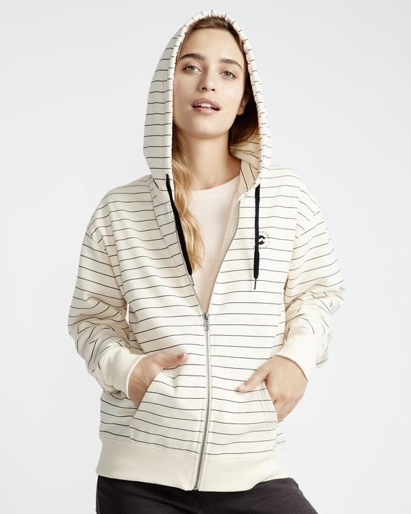 0 Beach Day - Zip Hood Pullover für Frauen Weiss Q3ZH01BIF9 Billabong