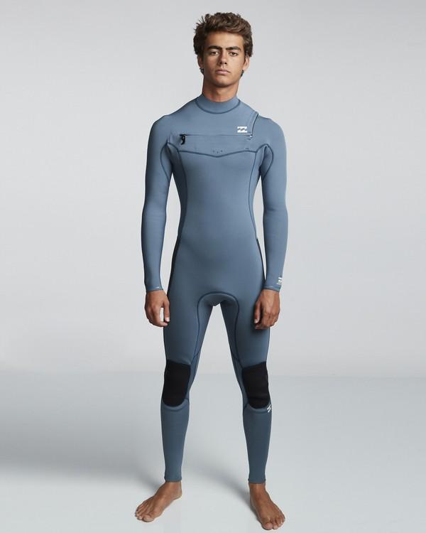 0 3/2mm Furnace Revolution - Chest Zip Langärmeliger Fullsuit Neoprenanzug für Männer Blau Q43M81BIF9 Billabong
