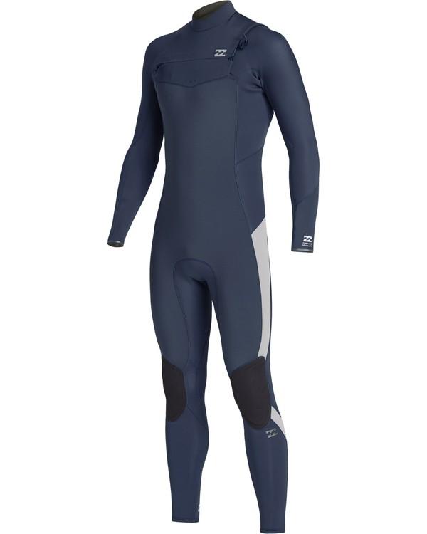 0 4/3mm Furnace Absolute GBS - Back Zip Langärmeliger Fullsuit Neoprenanzug für Jungen Blau Q44B03BIF9 Billabong