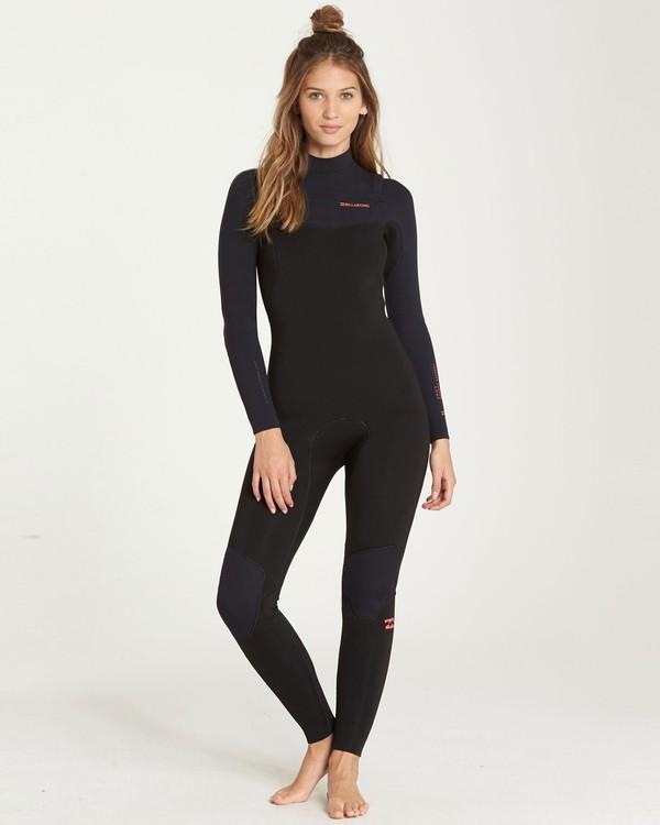0 4/3mm Furnace Carbon GBS - Chest Zip Fullsuit Neoprenanzug für Frauen Schwarz Q44G31BIF9 Billabong