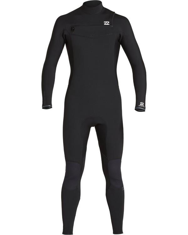0 4/3mm Furnace Revolution - Chest Zip Langärmeliger Fullsuit Neoprenanzug für Männer Schwarz Q44M07BIF9 Billabong