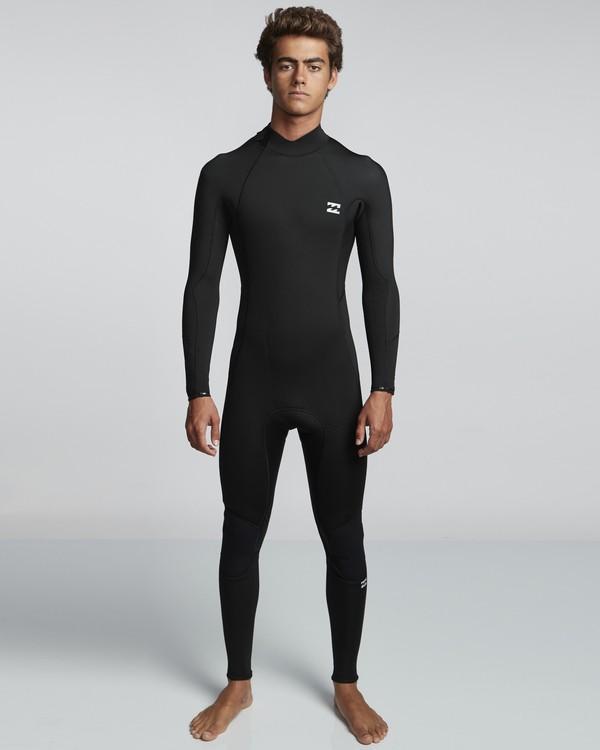0 5/4mm Furnace Absolute GBS - Back Zip Langärmeliger Fullsuit Neoprenanzug für Männer Schwarz Q45M10BIF9 Billabong