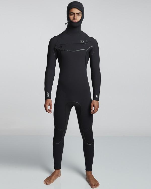 0 6/5mm Furnace Carbon Ultra Hd - Hood Neoprenanzug für Männer Schwarz Q46M01BIF9 Billabong