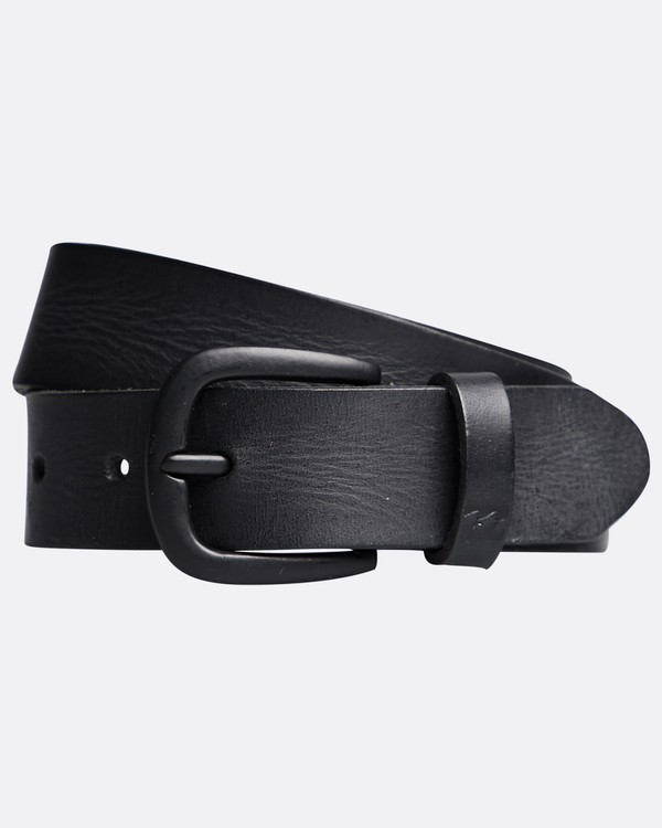 0 All Day - Leather Belt for Men Black Q5LB02BIF9 Billabong