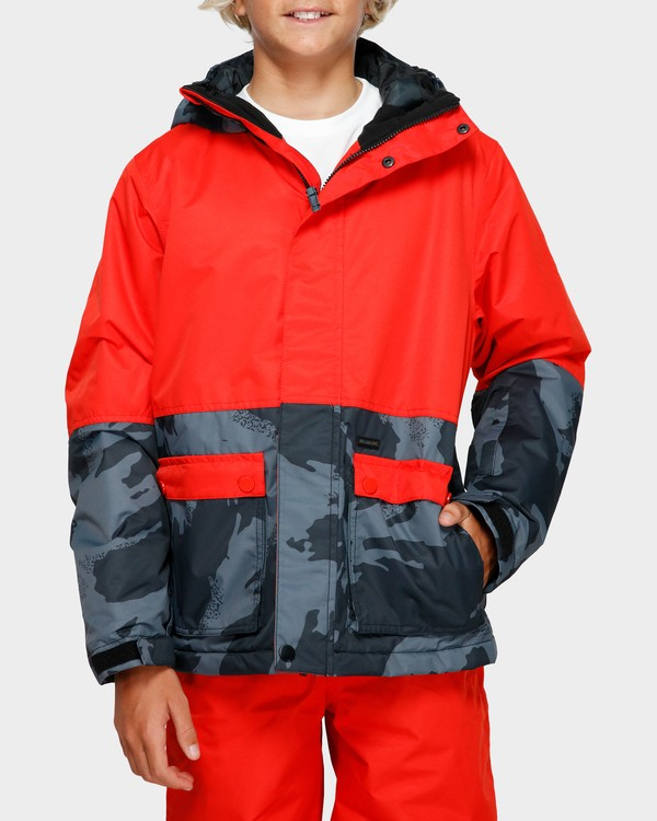 0 Boys Fifty 50 Jacket Red Q6JB02S Billabong