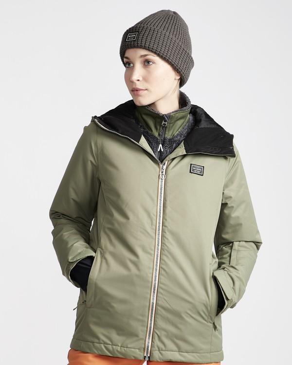 0 Sula - Chaqueta para Nieve para Mujer Verde Q6JF01BIF9 Billabong