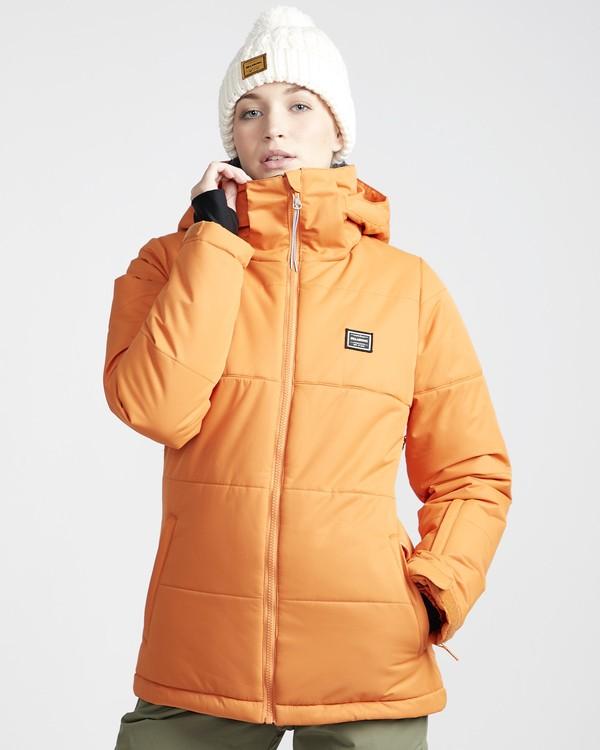 0 Down Rider - Chaqueta para Nieve para Mujer Naranja Q6JF02BIF9 Billabong