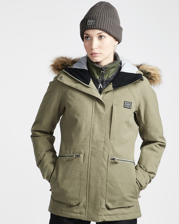 0 Into The Forest - Chaqueta para Nieve para Mujer Verde Q6JF08BIF9 Billabong